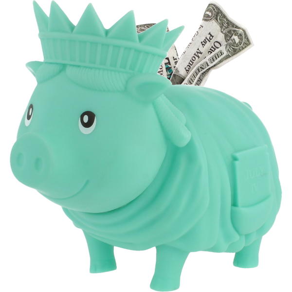 Biggys Γουρουνάκι Κουμπαράς Άγαλμα Ελευθερίας
