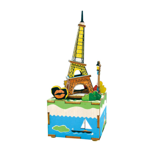 3D WOODEN PUZZLE -MUSIC BOX- Romantic Eiffel