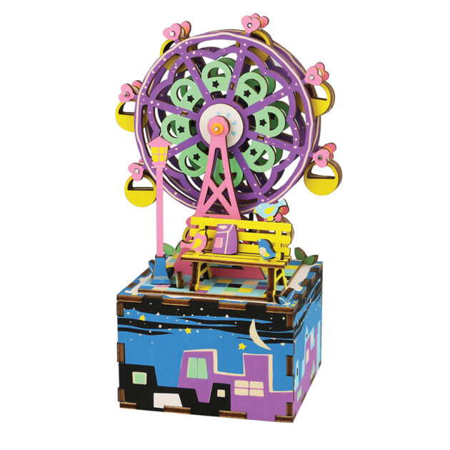 3D WOODEN PUZZLE -MUSIC BOX- Ferris Wheel