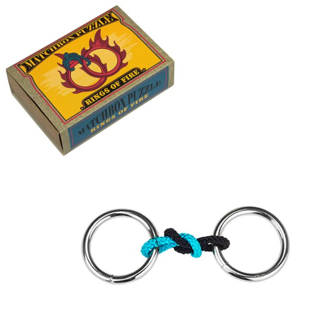Matchbox Puzzle Rings of Fire