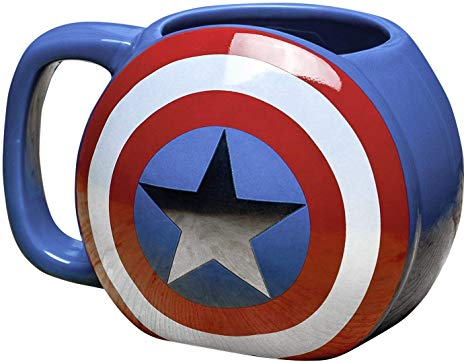 MARVEL AVENGERS 3D CAPTAIN AMERICA SHIELD MUG