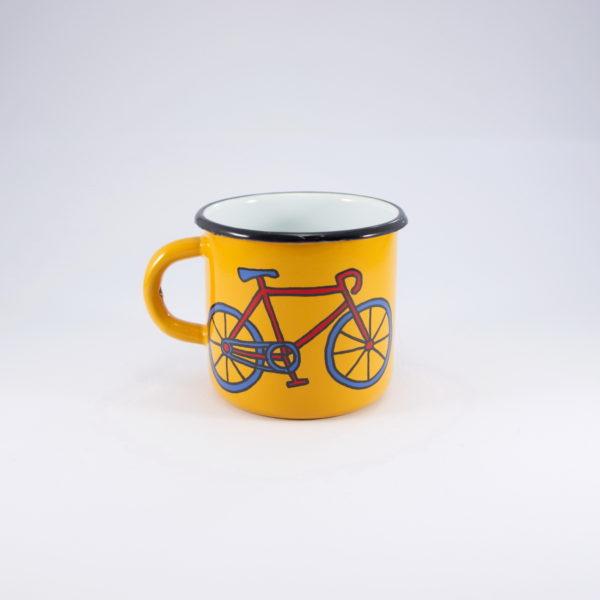 Smaltum κούπα εμαγιέ ποδήλατο 8cm