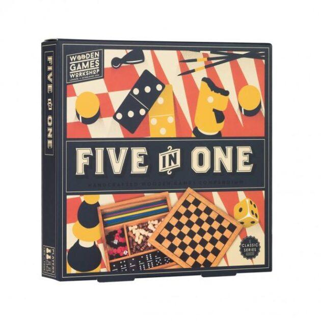 Επιτραπέζιο Παιχνίδι 5 σε 1 Κλασσικά Παιχνίδια