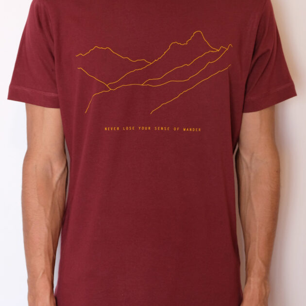 t shirt travel inspired vurgundy