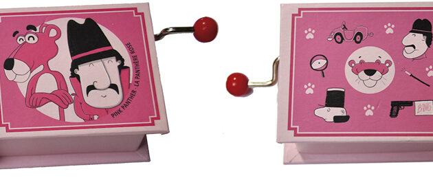 music box pink panther μουσικό κουτί ροζ πάνθηρας