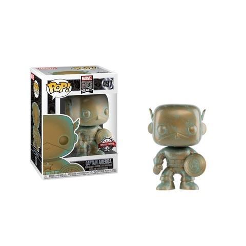 Funko POP! Marvel - Captain America (Platina) #497 Bobble-Head (Exclusive)