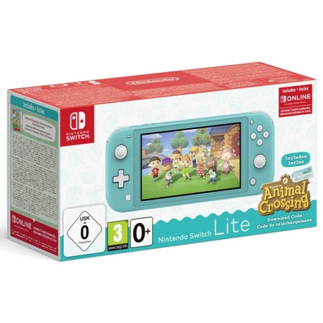 NINTENDO Switch Lite Animal Crossing Console Turquoise
