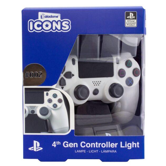 Paladone Playstation 4 Controller Icon Light Φωτίστε τον χώρο σας με την σειρά mini lights by Paladone. Ένα υπέροχο κομμάτι, γεμάτο αναμνήσεις, είναι το τέλειο δώρο για κάθε φανατικό του PlayStation. Τροφοδοτείται από μπαταρίες AAA 2x (δεν περιλαμβάνονται).
