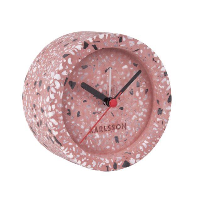 Ρολόι Ξυπνητήρι Karlsson Tom Terrazzo Pink