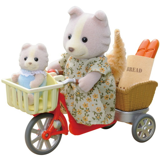 sylvanina families cycling with dog mother and babyfamilies cy
