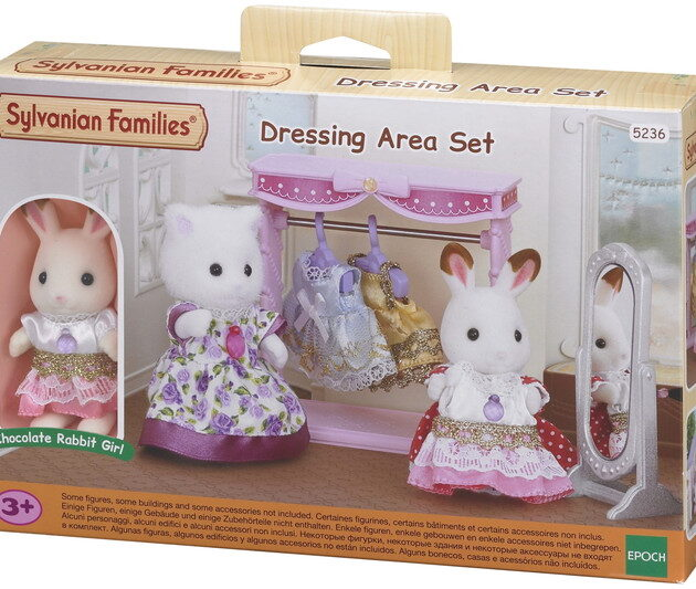 sylvanian families dressing area chocolate rabbit girl