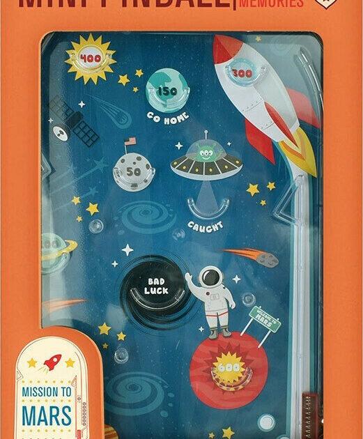 mini pinball mission to mars επιτραπέζιο φλιπεράκι