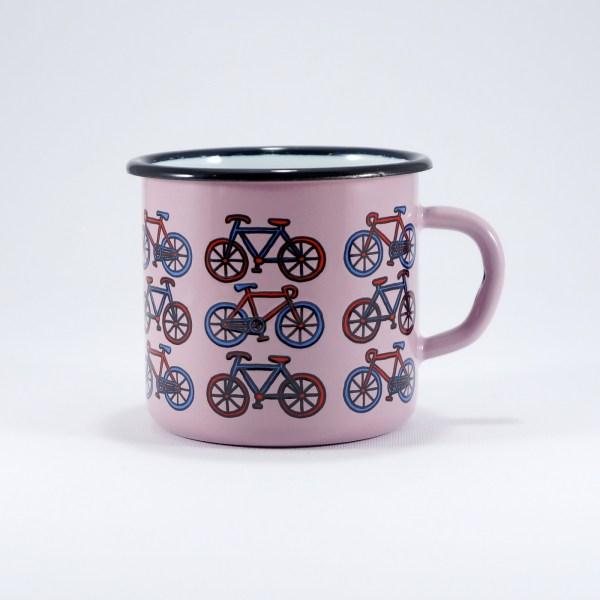 Κούπα εμαγιέ Smaltum Pink Bikes 8cm